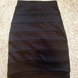 Charlotte Russe Black Pencil Skirt